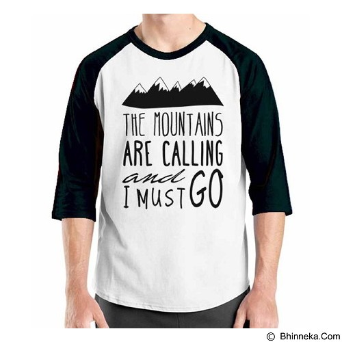 ORDINAL Raglan Travel Quotes 05 Size L (Merchant) - Kaos Pria