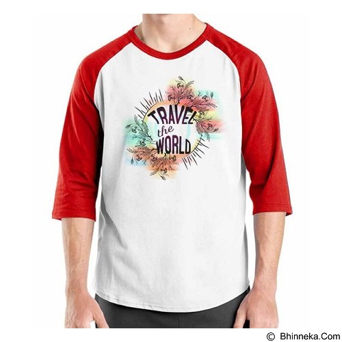 ORDINAL Raglan Travel Quotes 06 Size L (Merchant) - Kaos Pria