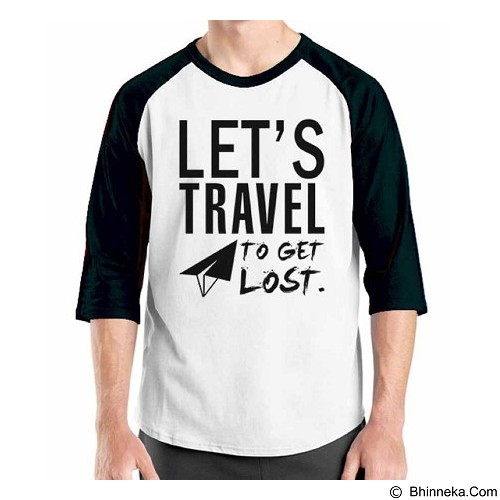 ORDINAL Raglan Travel Quotes 07 Size M (Merchant) - Kaos Pria