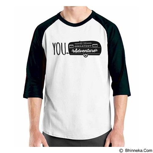 ORDINAL Raglan Travel Quotes 09 Size M (Merchant) - Kaos Pria