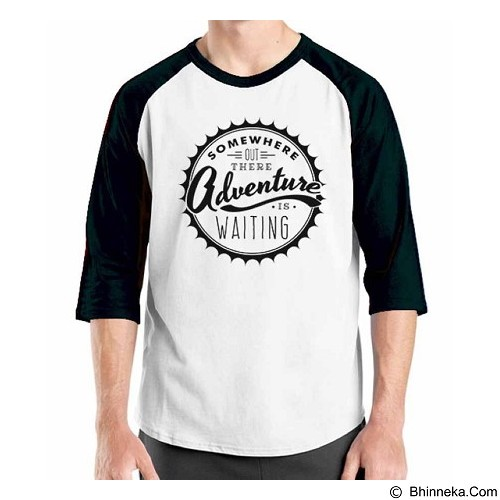 ORDINAL Raglan Travel Quotes 11 Size L (Merchant) - Kaos Pria