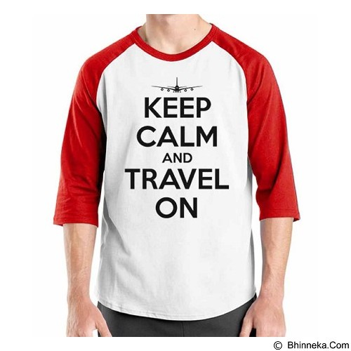 ORDINAL Raglan Travel Quotes 13 Size S (Merchant) - Kaos Pria