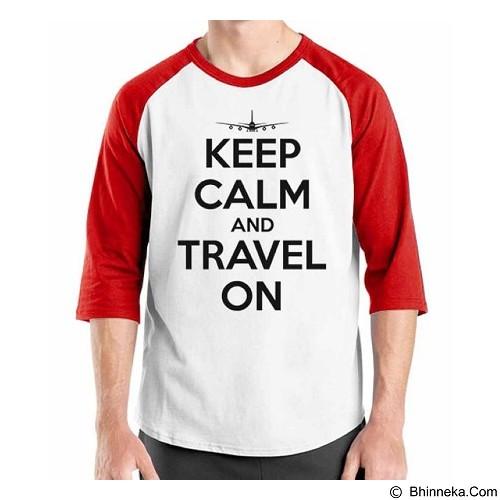 ORDINAL Raglan Travel Quotes 13 Size S (Merchant) - Kaos Pria