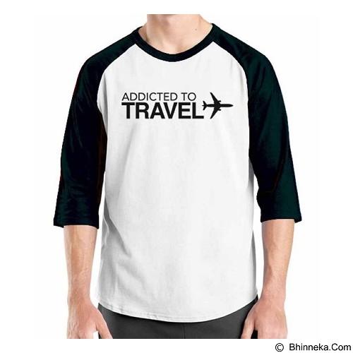 ORDINAL Raglan Travel Quotes 14 Size XXL (Merchant) - Kaos Pria