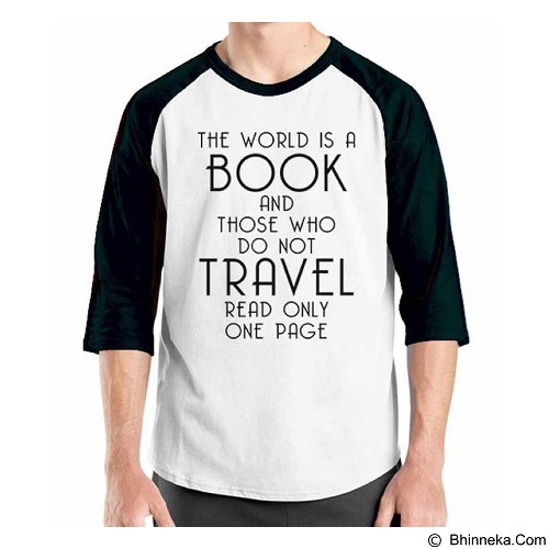 ORDINAL Raglan Travel Quotes 15 Size ML (Merchant) - Kaos Pria