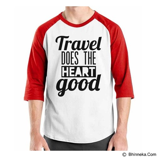 ORDINAL Raglan Travel Quotes 16 Size XL (Merchant) - Kaos Pria