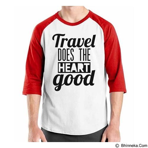 ORDINAL Raglan Travel Quotes 16 Size XXL (Merchant) - Kaos Pria