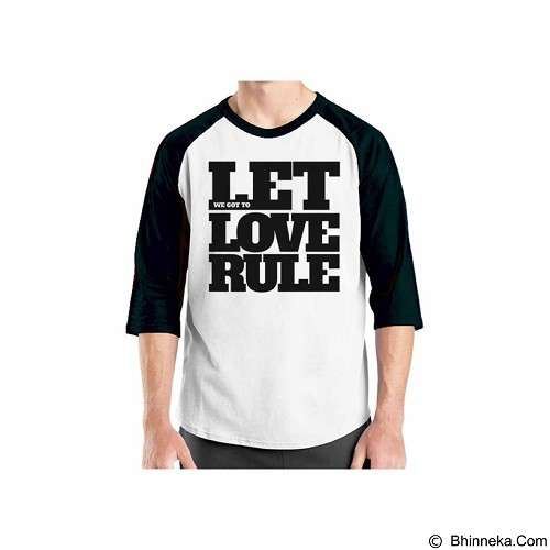 ORDINAL Raglan Typhography Love 02 Size XL (Merchant) - Kaos Pria