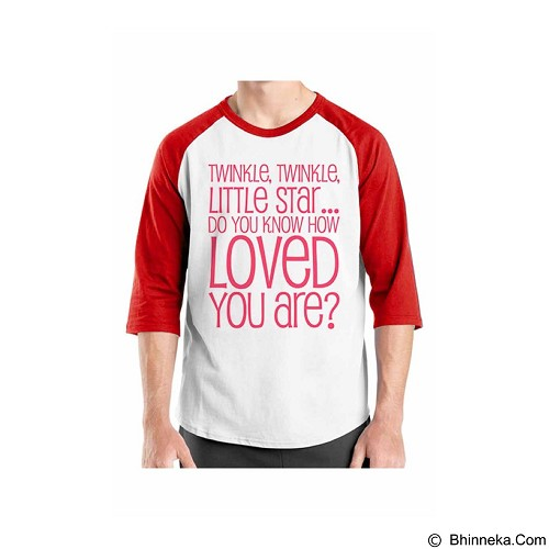 ORDINAL Raglan Typhography Love 03 Size XL (Merchant) - Kaos Pria