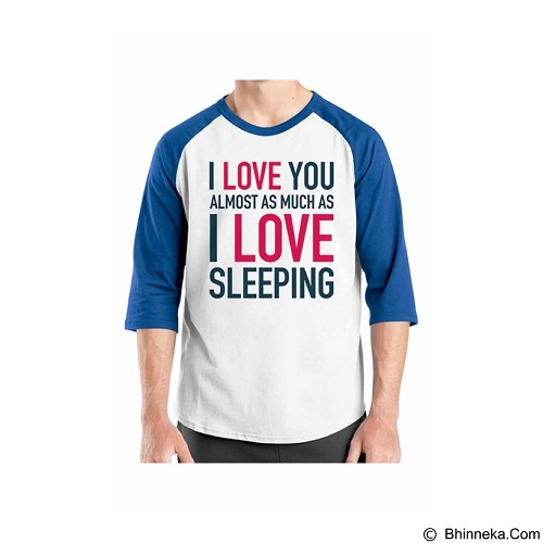 ORDINAL Raglan Typhography Love 06 Size ML (Merchant) - Kaos Pria