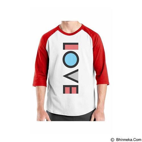 ORDINAL Raglan Typhography Love 08 Size XL (Merchant) - Kaos Pria