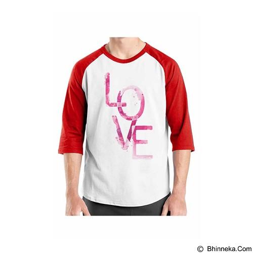 ORDINAL Raglan Typhography Love 25 Size XL (Merchant) - Kaos Pria