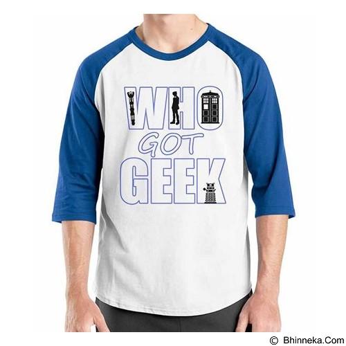 ORDINAL Raglan What Got Geek Size L (Merchant) - Kaos Pria