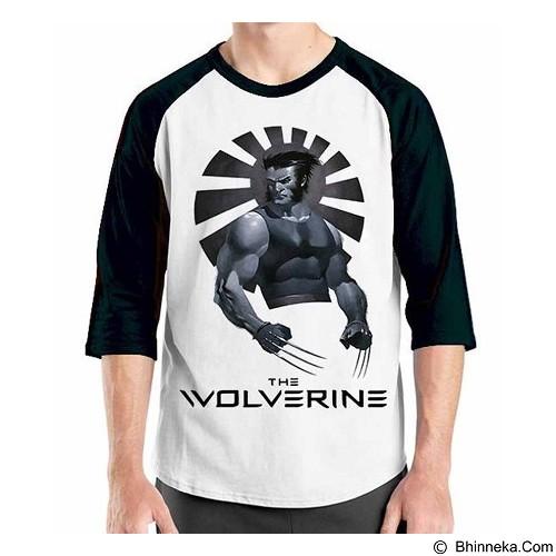 ORDINAL Raglan Wolverine 03 Size S (Merchant) - Kaos Pria