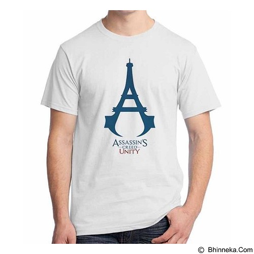 ORDINAL T-Shirt Assassin Creed Unity Logo 03 Size ML (Merchant) - Kaos Pria