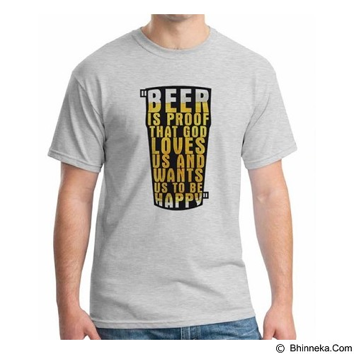 ORDINAL T-Shirt Beer Holic 11 Size L (Merchant) - Kaos Pria
