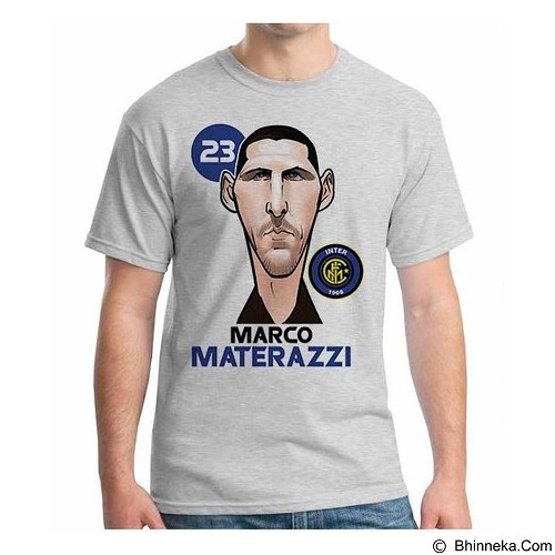 ORDINAL T-Shirt Football Player Materazzi Size XXL (Merchant) - Kaos Pria