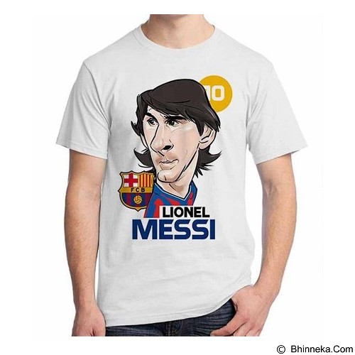 ORDINAL T-Shirt Football Player Messi 01 Size XXL (Merchant) - Kaos Pria