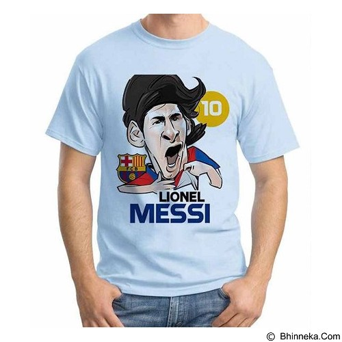 ORDINAL T-Shirt Football Player Messi 02 Size L (Merchant) - Kaos Pria