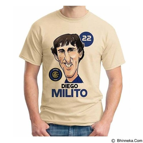 ORDINAL T-Shirt Football Player Milito Size M (Merchant) - Kaos Pria