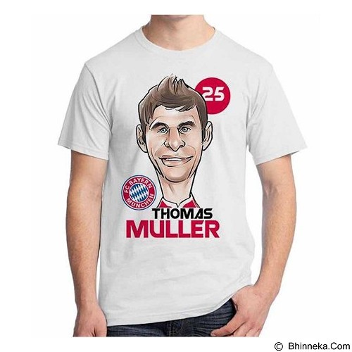 ORDINAL T-Shirt Football Player Muller Size ML (Merchant) - Kaos Pria
