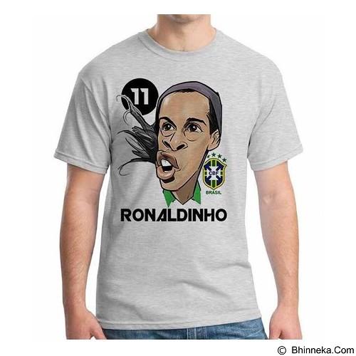 ORDINAL T-Shirt Football Player Ronaldinho 01 Size XL (Merchant) - Kaos Pria
