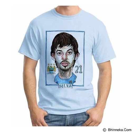 ORDINAL T-Shirt Football Player Silva Size XL (Merchant) - Kaos Pria