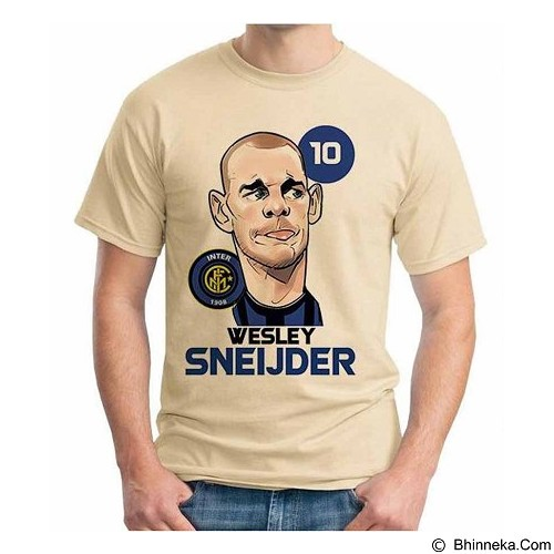 ORDINAL T-Shirt Football Player Sneijder Size XXL (Merchant) - Kaos Pria