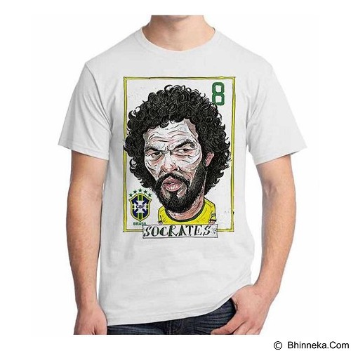 ORDINAL T-Shirt Football Player Socrates Size ML (Merchant) - Kaos Pria