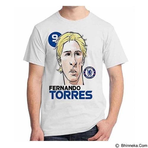 ORDINAL T-Shirt Football Player Torres 02 Size XL (Merchant) - Kaos Pria