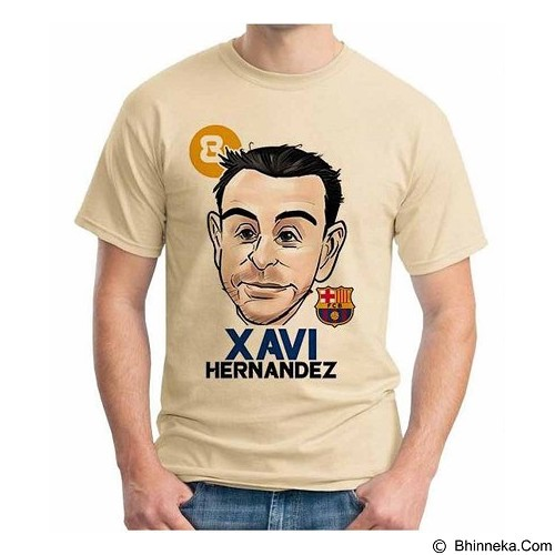 ORDINAL T-Shirt Football Player Xavi 02 Size S (Merchant) - Kaos Pria