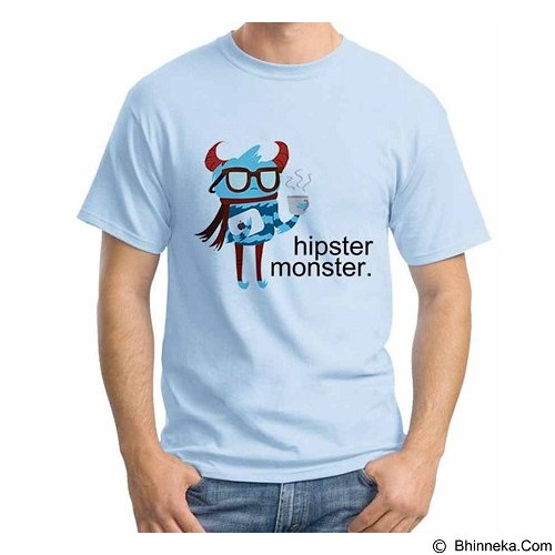 ORDINAL T-Shirt Hipster Monster Size XXL (Merchant) - Kaos Pria