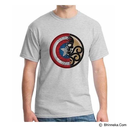 ORDINAL T-Shirt New Captain America Logo 01 Size ML (Merchant) - Kaos Pria
