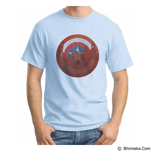 ORDINAL T-Shirt New Captain America Logo 04 Size M (Merchant) - Kaos Pria