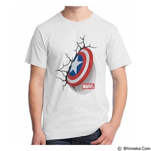ORDINAL T-Shirt New Captain America Logo 05 Size S (Merchant) - Kaos Pria