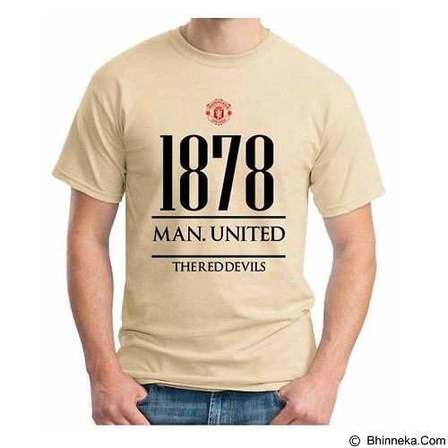 ORDINAL T-Shirt Premiere League Manchester United Year Size XL (Merchant) - Kaos Pria