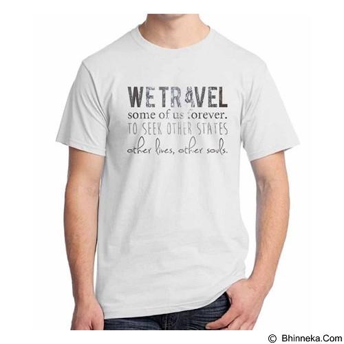 ORDINAL T-Shirt Travel Quotes 02 Size M (Merchant) - Kaos Pria