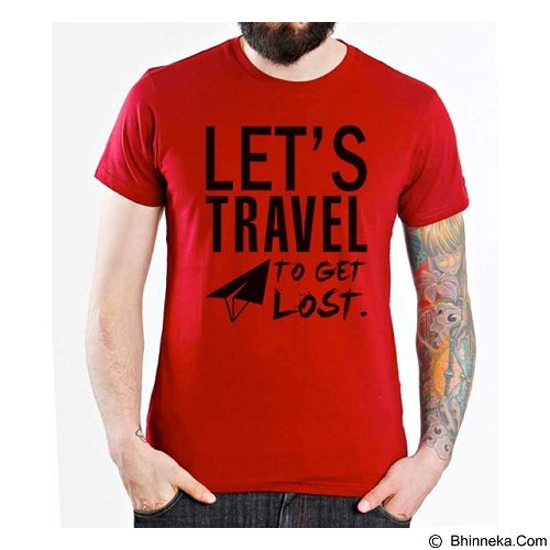 ORDINAL T-Shirt Travel Quotes 07 Size S (Merchant) - Kaos Pria