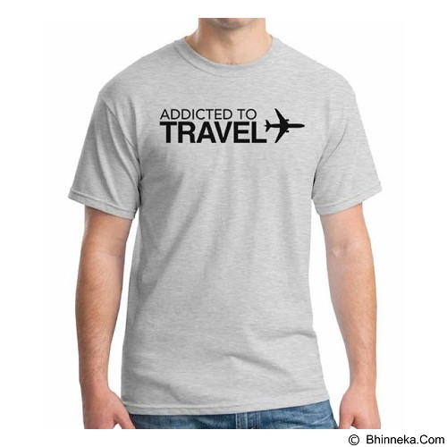 ORDINAL T-Shirt Travel Quotes 14 Size M (Merchant) - Kaos Pria