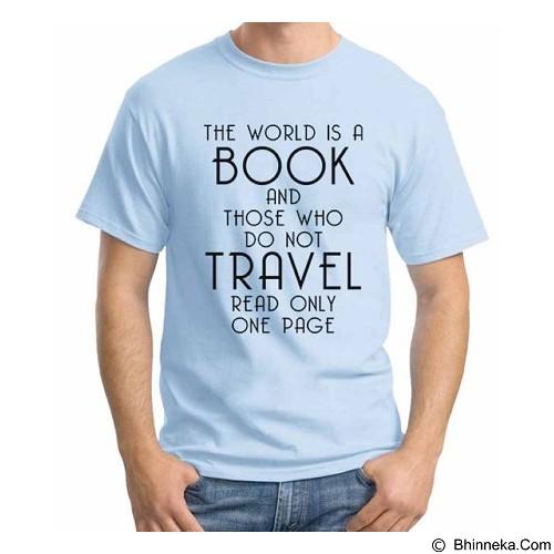 ORDINAL T-Shirt Travel Quotes 15 Size M (Merchant) - Kaos Pria