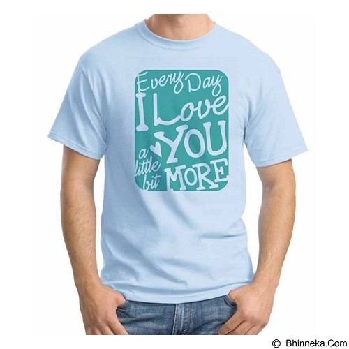 ORDINAL T-Shirt Typhography Love 07  Size ML (Merchant) - Kaos Pria