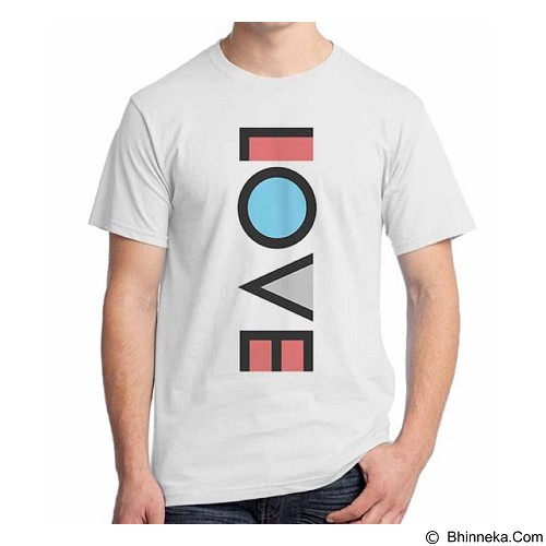 ORDINAL T-Shirt Typhography Love 08 Size S (Merchant) - Kaos Pria