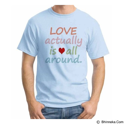 ORDINAL T-Shirt Typhography Love 11 Size XL (Merchant) - Kaos Pria