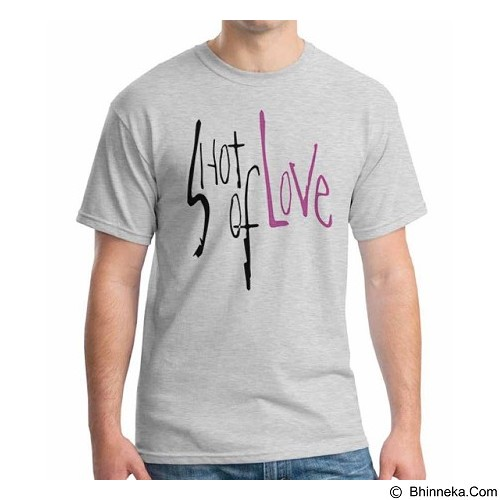 ORDINAL T-Shirt Typhography Love 13 Size ML (Merchant) - Kaos Pria