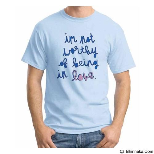 ORDINAL T-Shirt Typhography Love 18 Size S (Merchant) - Kaos Pria