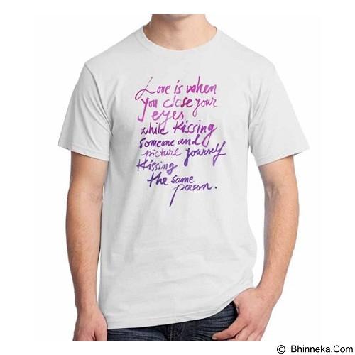 ORDINAL T-Shirt Typhography Love 24 Size XXL (Merchant) - Kaos Pria