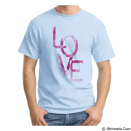 ORDINAL T-Shirt Typhography Love 25 Size L (Merchant) - Kaos Pria