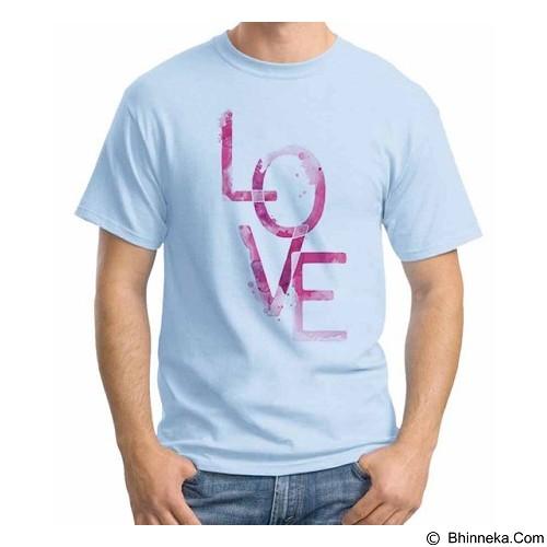 ORDINAL T-Shirt Typhography Love 25 Size ML (Merchant) - Kaos Pria