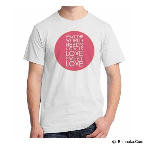 ORDINAL T-Shirt Typhography Love 26 Size L (Merchant) - Kaos Pria