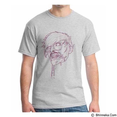 ORDINAL T-Shirt Zombie Hipster 3D Size ML (Merchant) - Kaos Pria